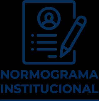 Icono que representa Normograma Institucional ,libro con lapicero